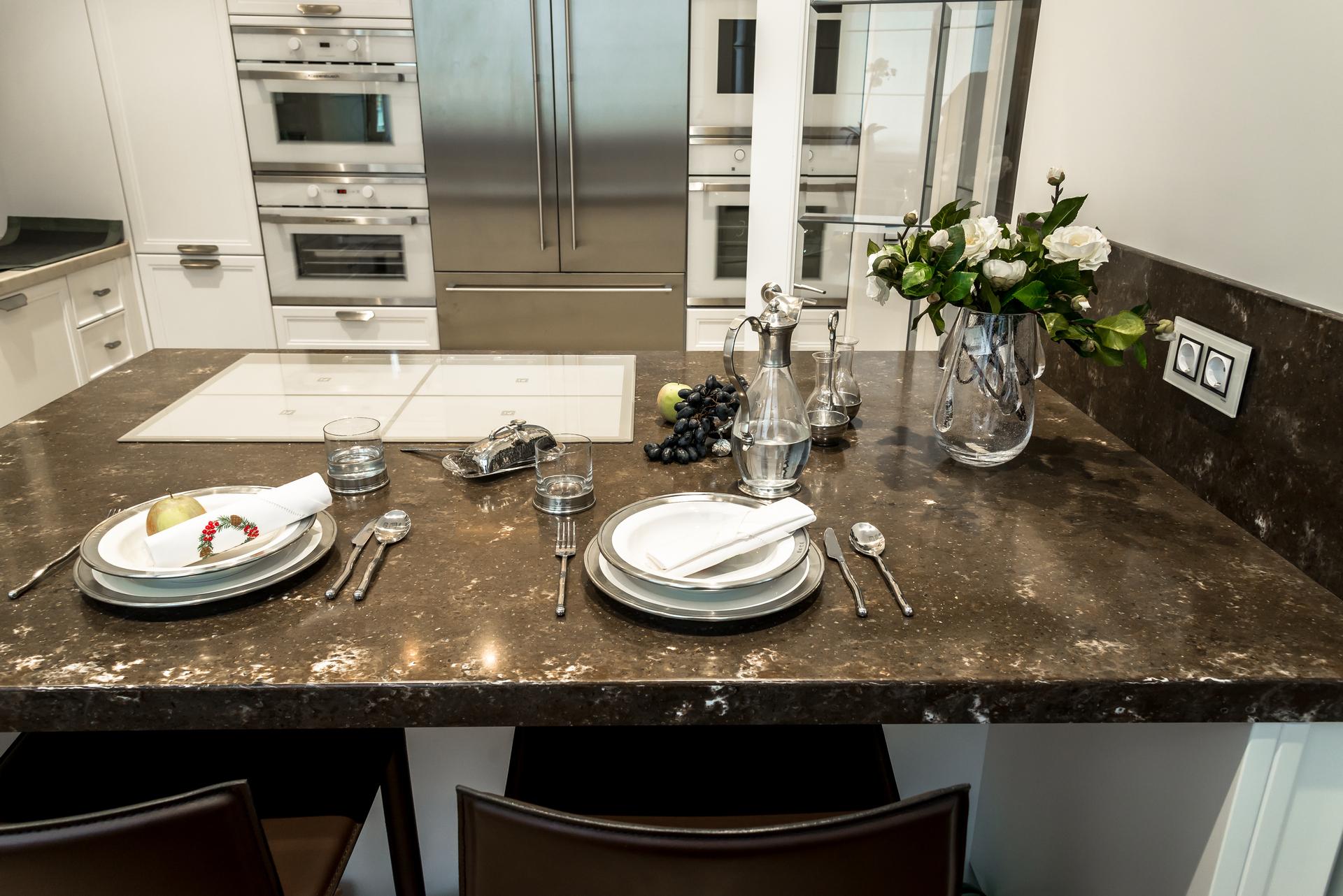 Каменная столешница для кухни цены москва купить стол из искуственного камня Осташево